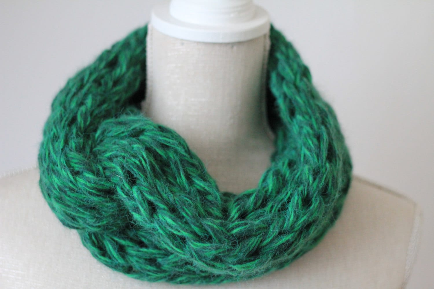 Super soft  INFINITY SCARF shades of green  multi strand super jumbo knit very soft and snuggly  UNISEX  warm and light weight alpaca