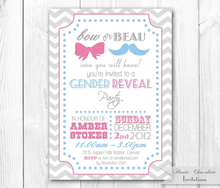 Gender Reveal Invitation Templates was perfect invitation layout