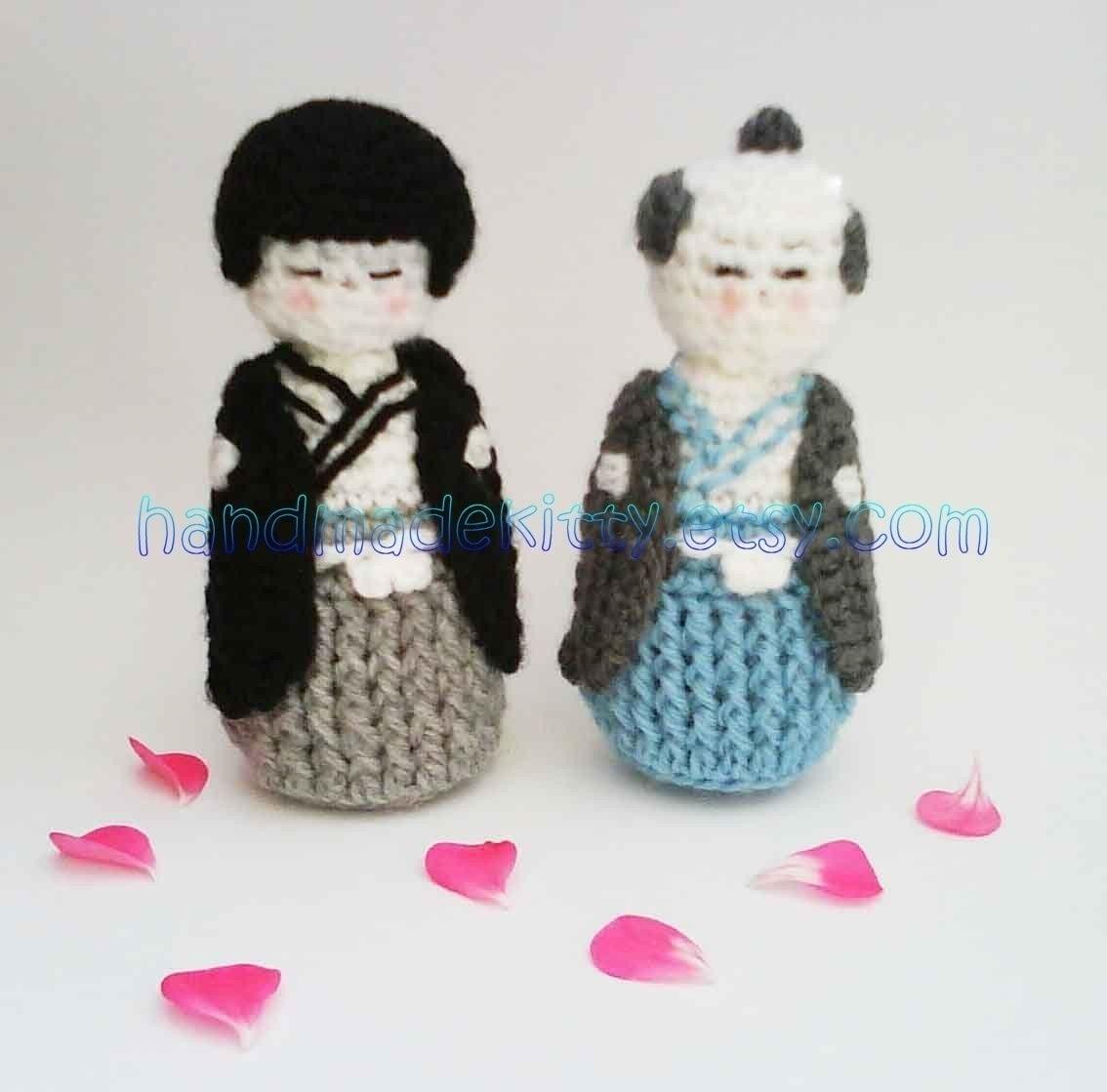 Japanese Kokeshi Boy doll  Amigurumi PDF Crochet Pattern