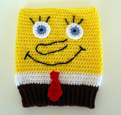 Spongebob Squarepants Style Hat Crochet for by AllKindsofArt