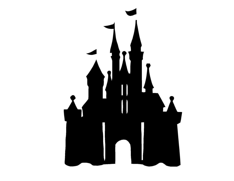 disney castle silhouette clip art Sleeping Beauty Castle Coloring Pages