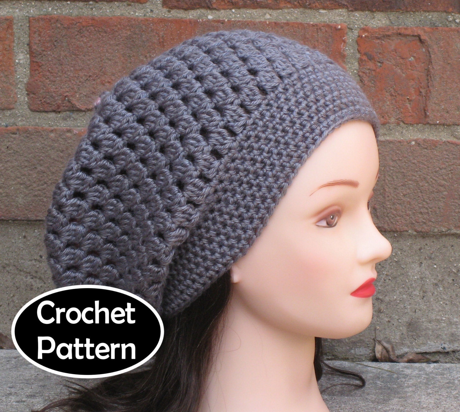Crochet Hat Pattern Download : CROCHET HAT PATTERN Instant Download Pdf Drift by AlyseCrochet