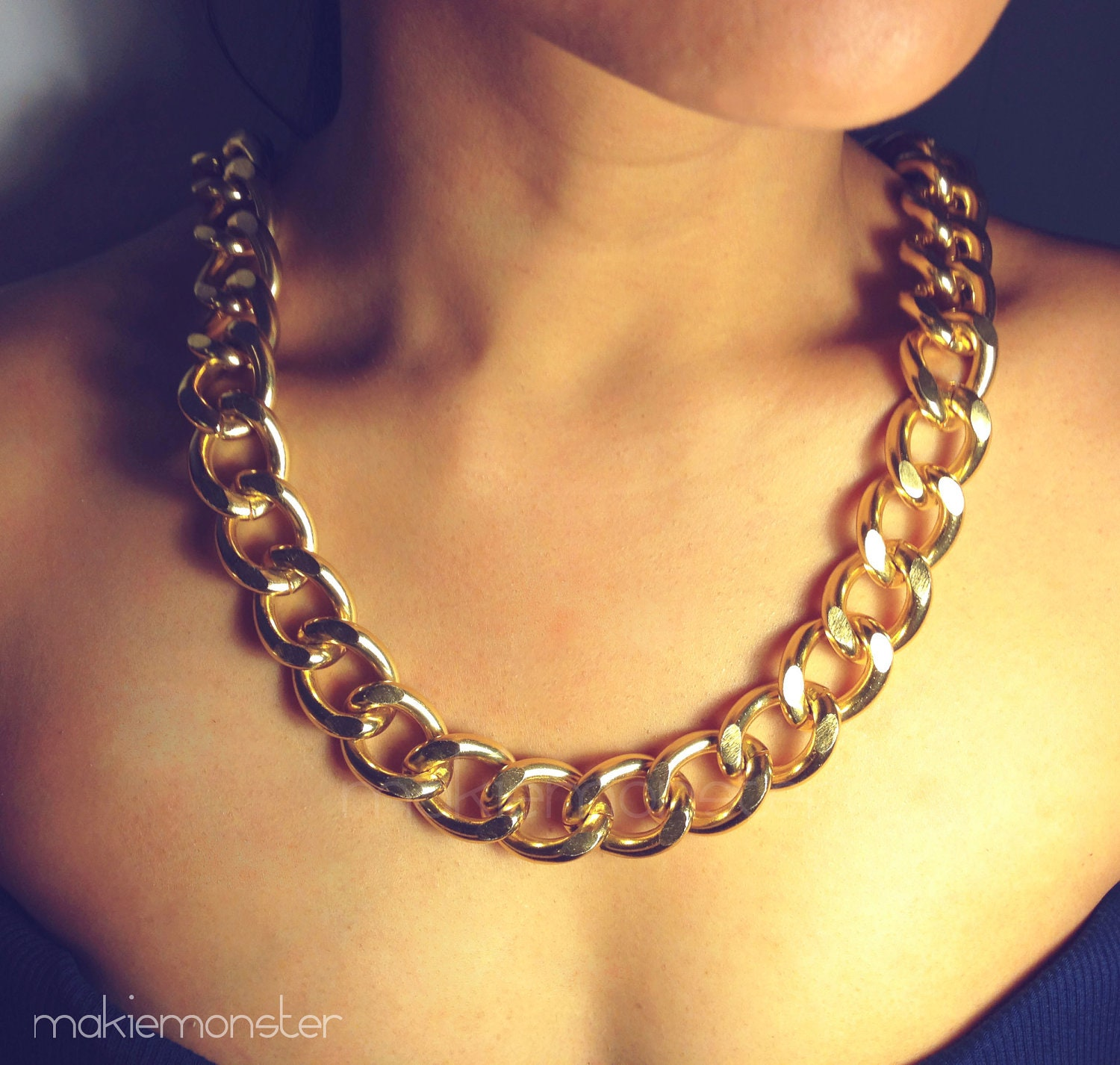 Chunky Necklaces. Make a stylish statement with the newest chunky necklaces. From colorful frontal designs to multi-stone bib silhouettes, these sophisticated stunners are sure to give any outfit a bold boost.