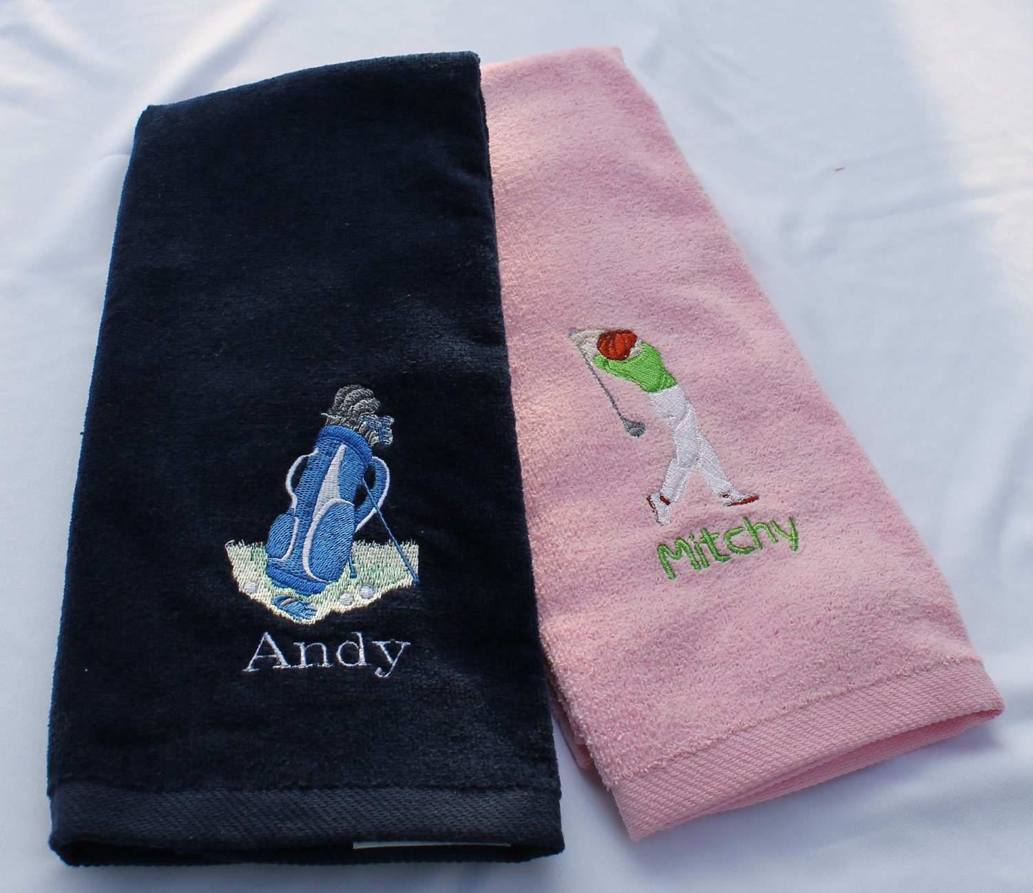 Custom Embroidered Golf Towel By TheBeachCrafts On Etsy
