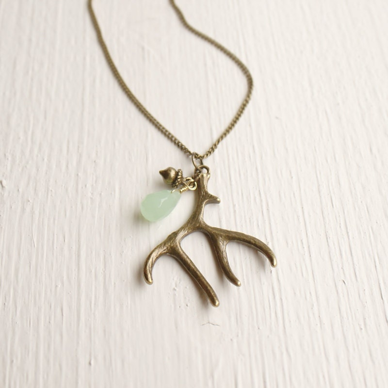 deer antler necklace antler necklace deer antler by nativemoss