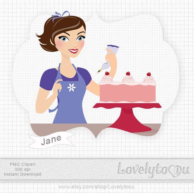 Baking A Cake Clip Art : Unavailable Listing on Etsy