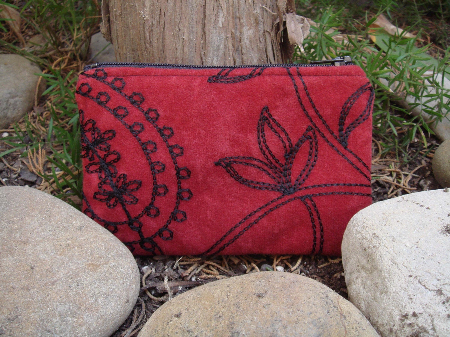 Red Paisley Wallet