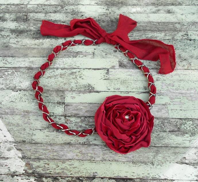 Red Velvet даного объявления ожерелье цепь ткани французского стране Рождество красную ленточку Полукомбинезон ожерелье женские девушки ювелирные изделия