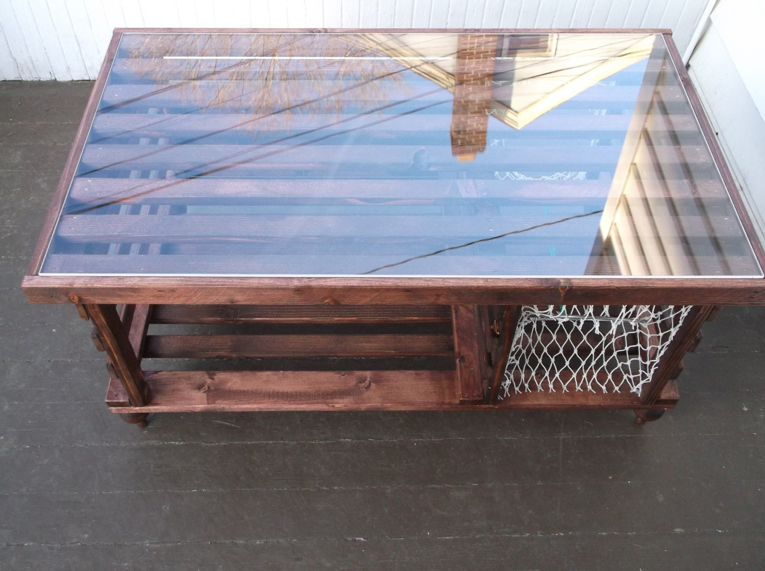 Handmade Wooden Lobster Trap Coffee Table Built By Maine
