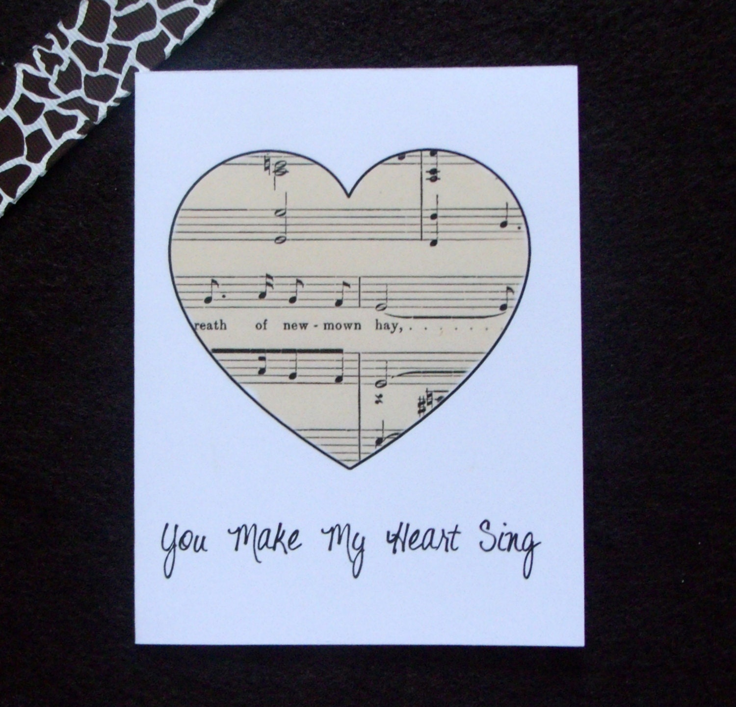 You Make My Heart Sing Anniversary Card - GiraffeLoversDoodles