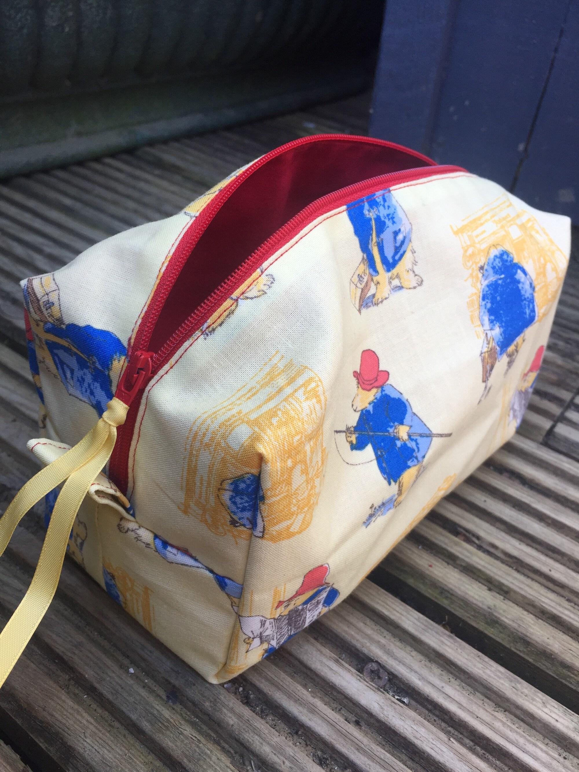 Handmade Paddington Bear make up bag cosmetic bag toiletry bag pencil case
