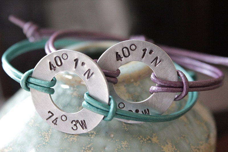 Long Distance Relationship Coordinate Bracelets