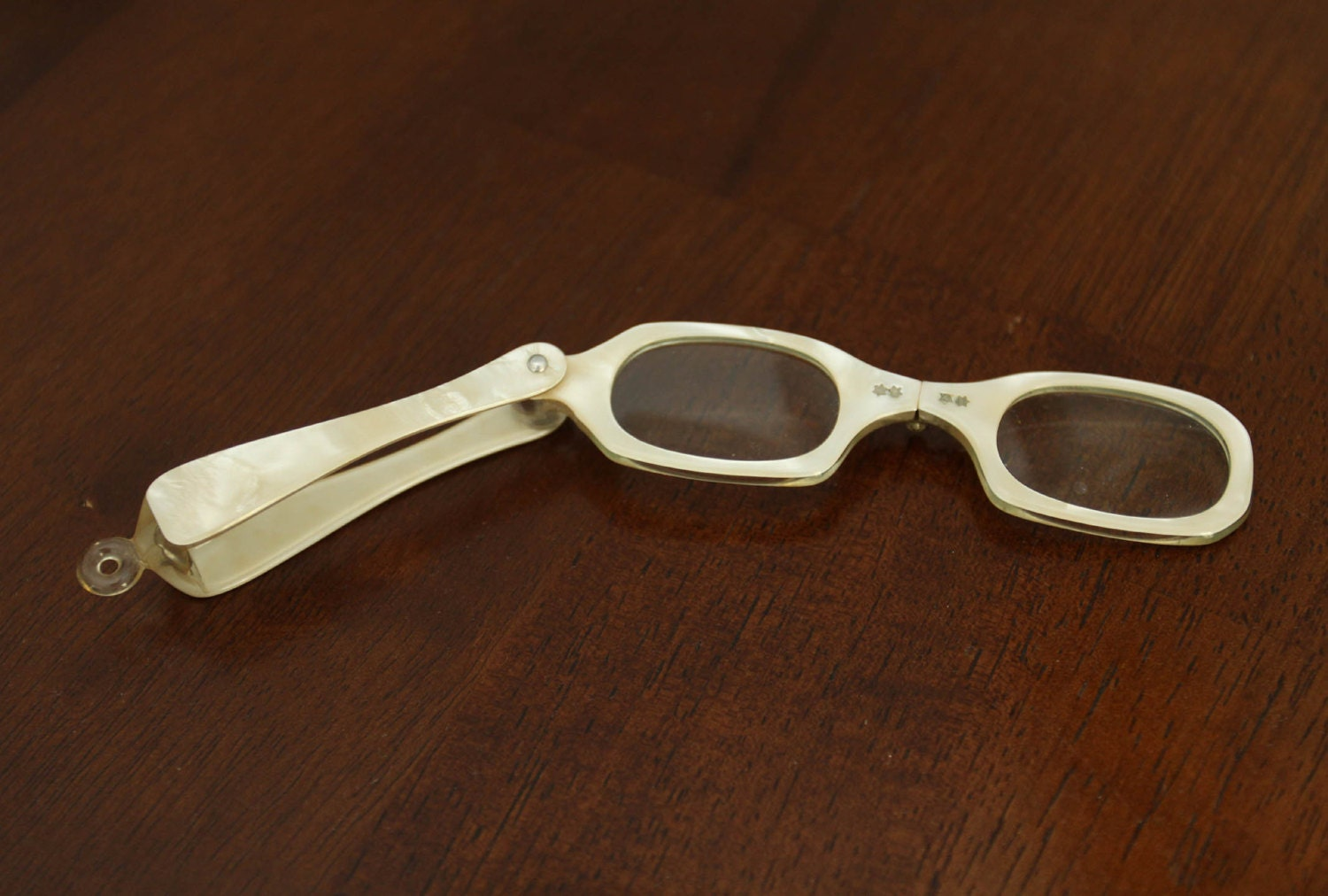 vintage folding lorgnette eyeglasses by neworleanseclectics