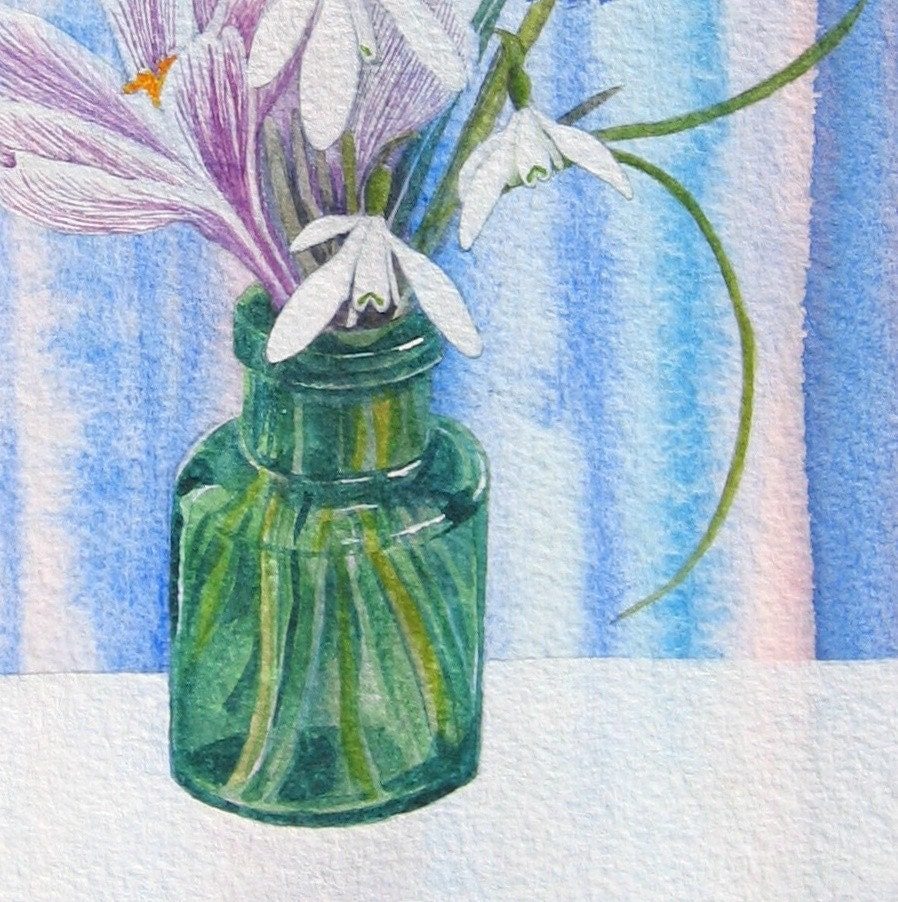 Little Green Bottle - Original Watercolour painting