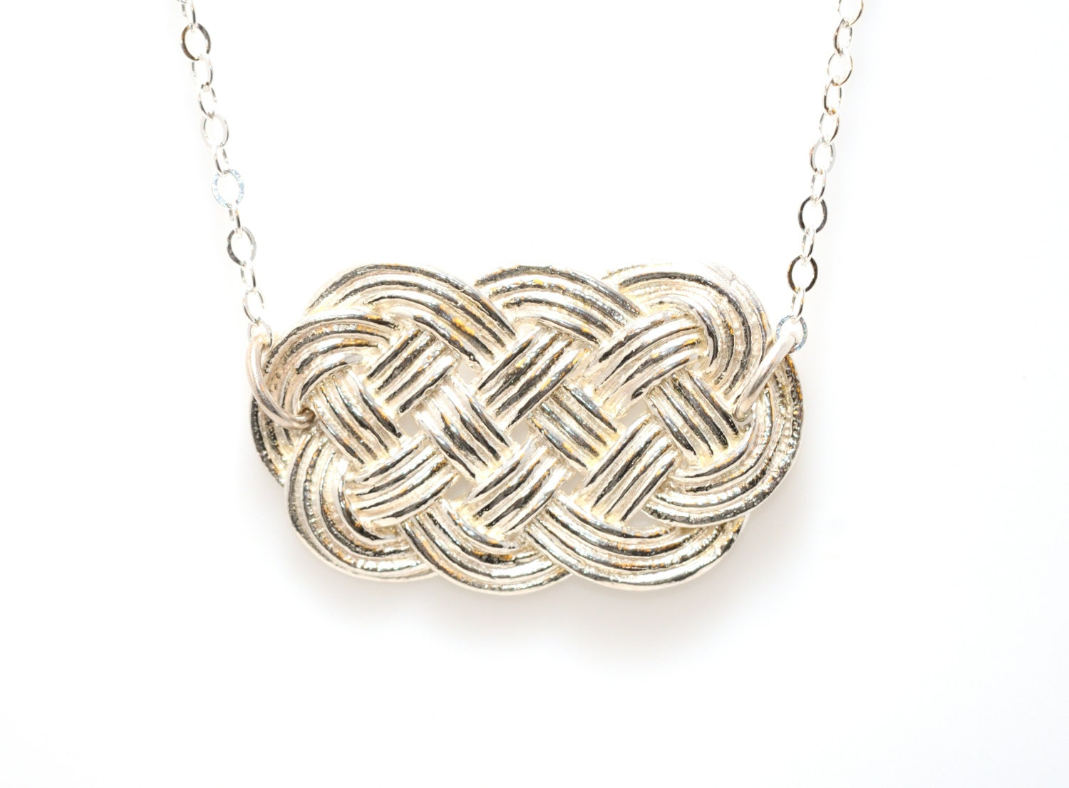 Silver Ocean Plait Necklace