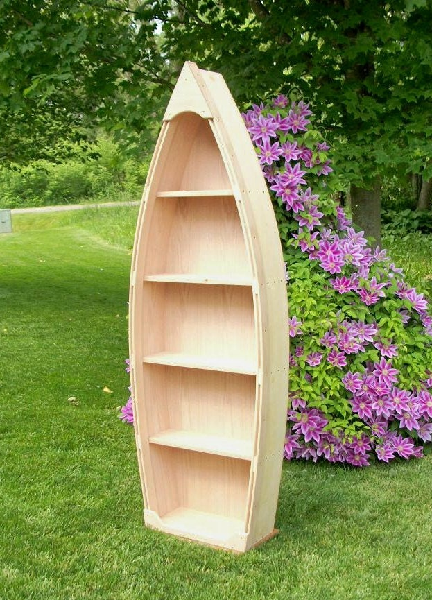 ... Row Boat shelf Bookshelf Bookcase hand crafted canoe nautical