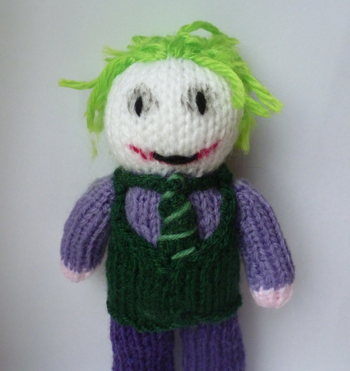Joker (Batman) knitted doll