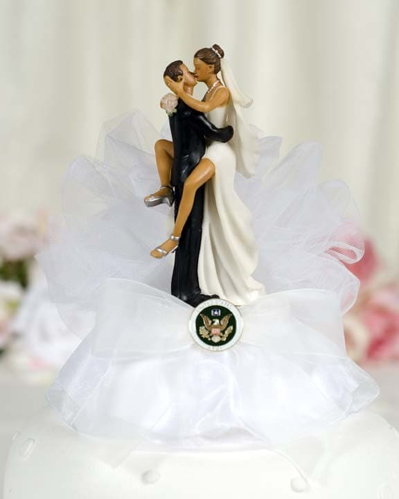 Military Sexy African American Cake Topper By Weddingcollectibles