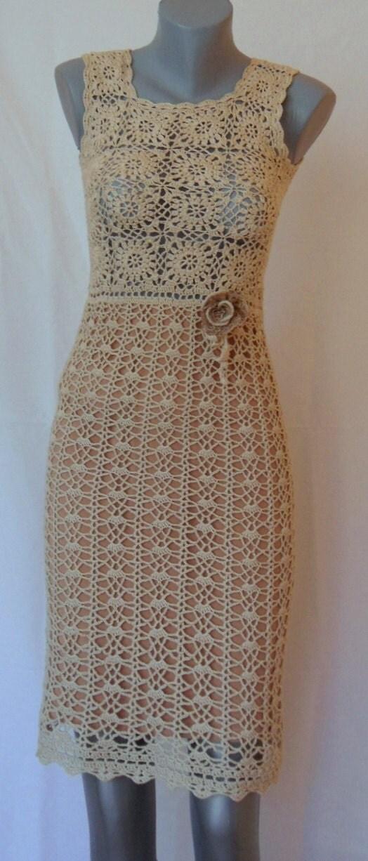 Elegant crochet dress for ladies