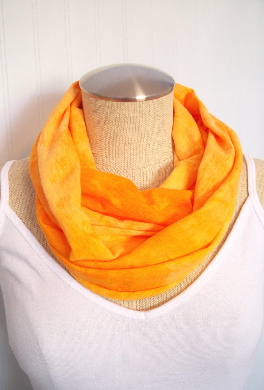 Orange Hand Dyed Cotton Scarf - EyeCandy395