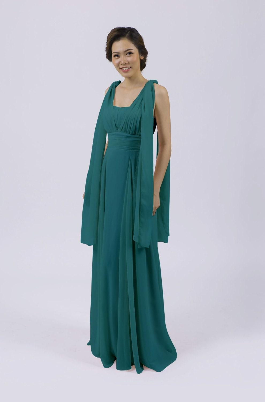 Matchimony Turquoise Multiway Long BridesmaidProm Dress (12 Styles)