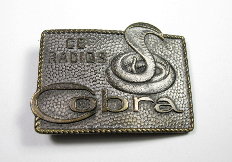Solid Brass, Lewis Buckle, 1970's, Cobra