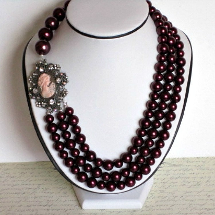 10 Off Sale Statement Necklace MultiStrand by SnobishDesign