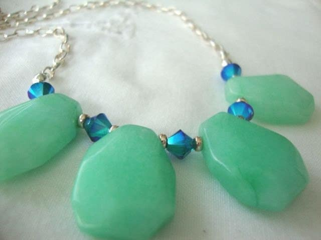 Sterling Jade Necklace by josoriginals on Etsy