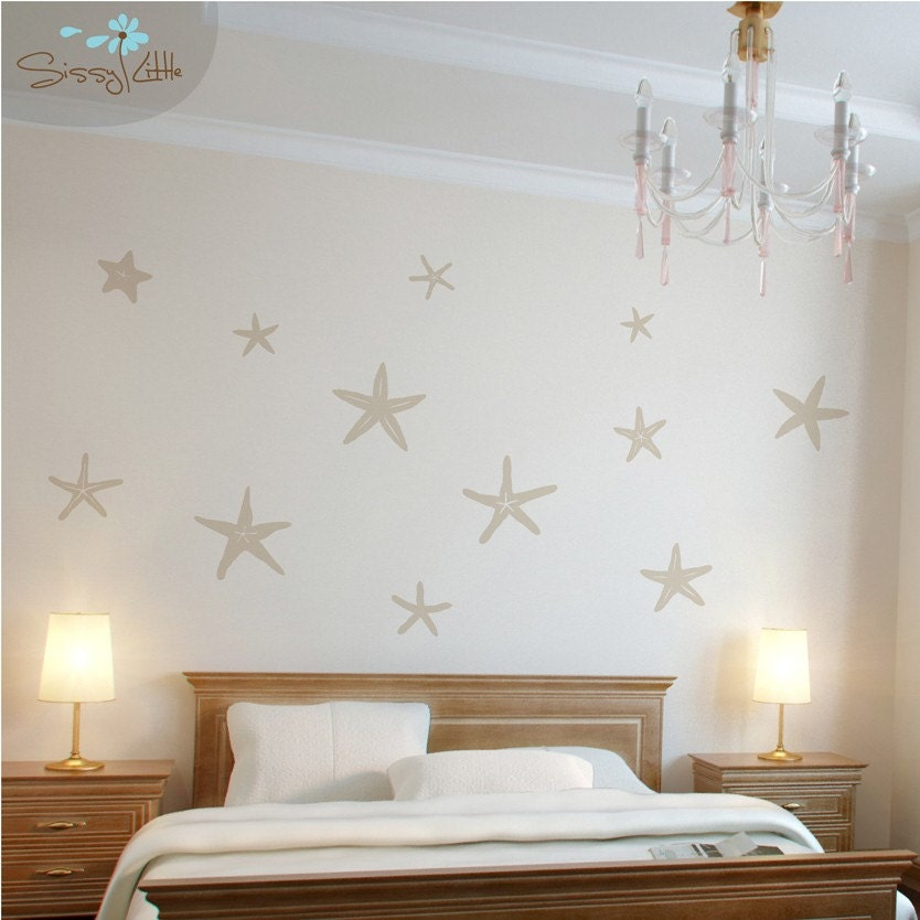 FREE SHIPPING - Stunning Starfish - Removable Wall Vinyl Decor Decal Sticker