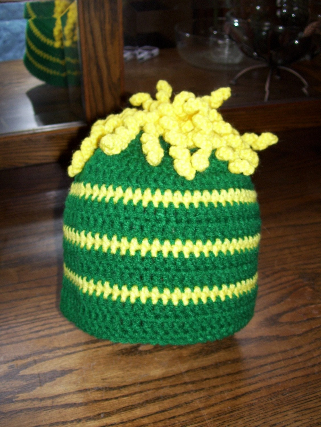 35% OFF with code FEATURED..... Green Bay Packers/ John Deer/Oregon Colors Crochet Hat
