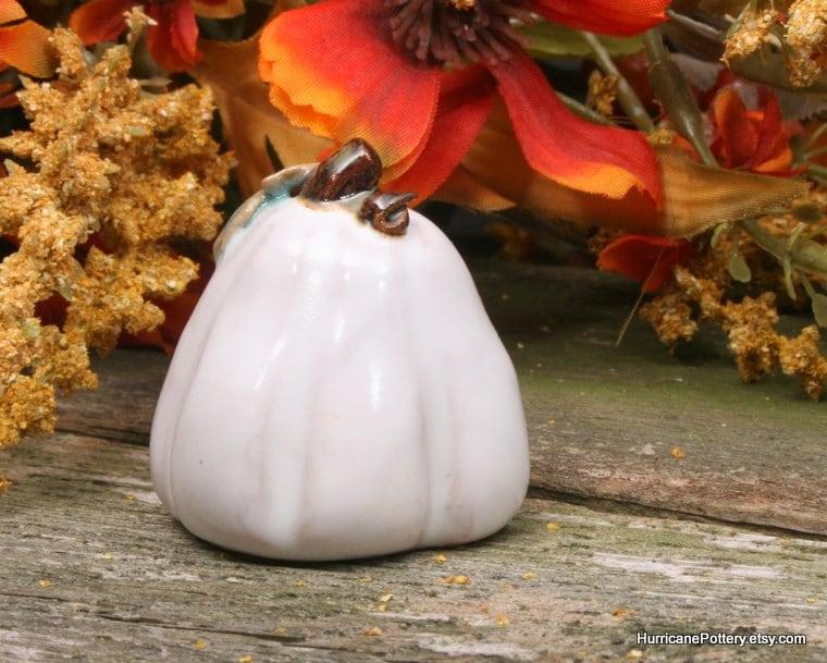 Ceramic Pumpkin Fall Harvest  Halloween Thanksgiving Handmade (7W)