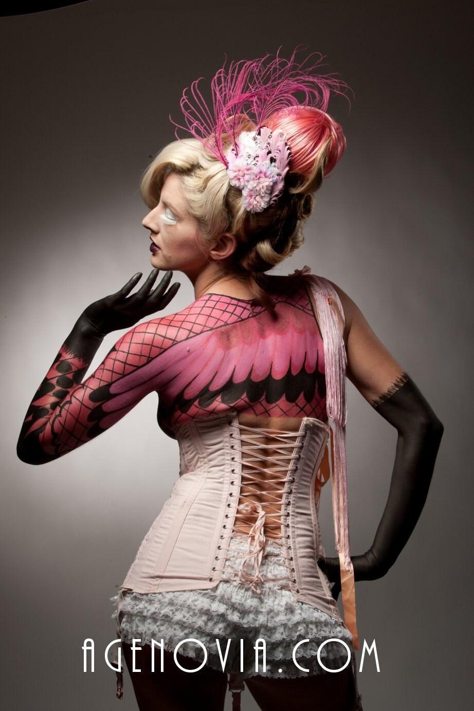 Flamingo Hair Fascinator - Burlesque - Circus -