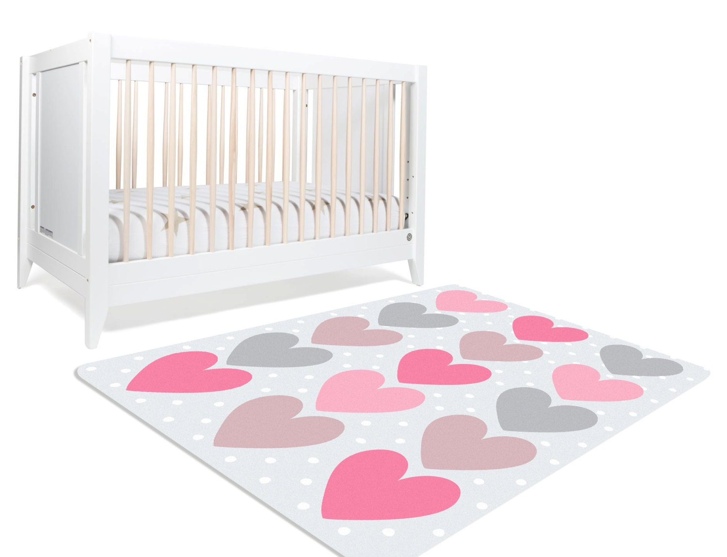 Pink rugs for nursery