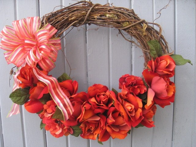 Red Roses Wreath - Derby Day (no1119)