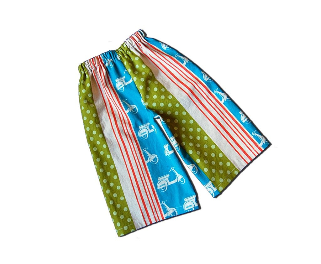 ANKLE BITERS - Cool Vespa Scooters - Turquoise Lounge Pants for Baby or Toddler or Big Kid - Boy or Girl