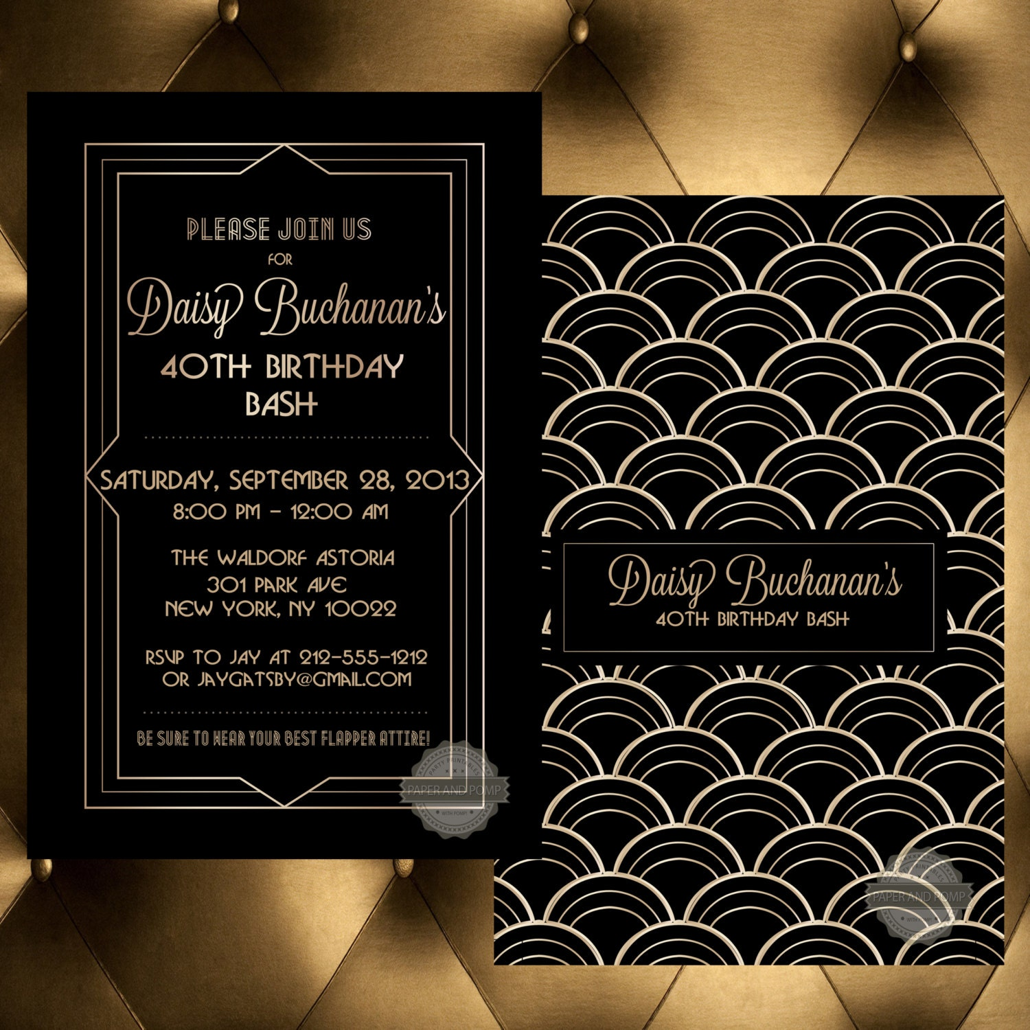 Birthday Invitation Save the Date Wedding by PaperandPomp ...
