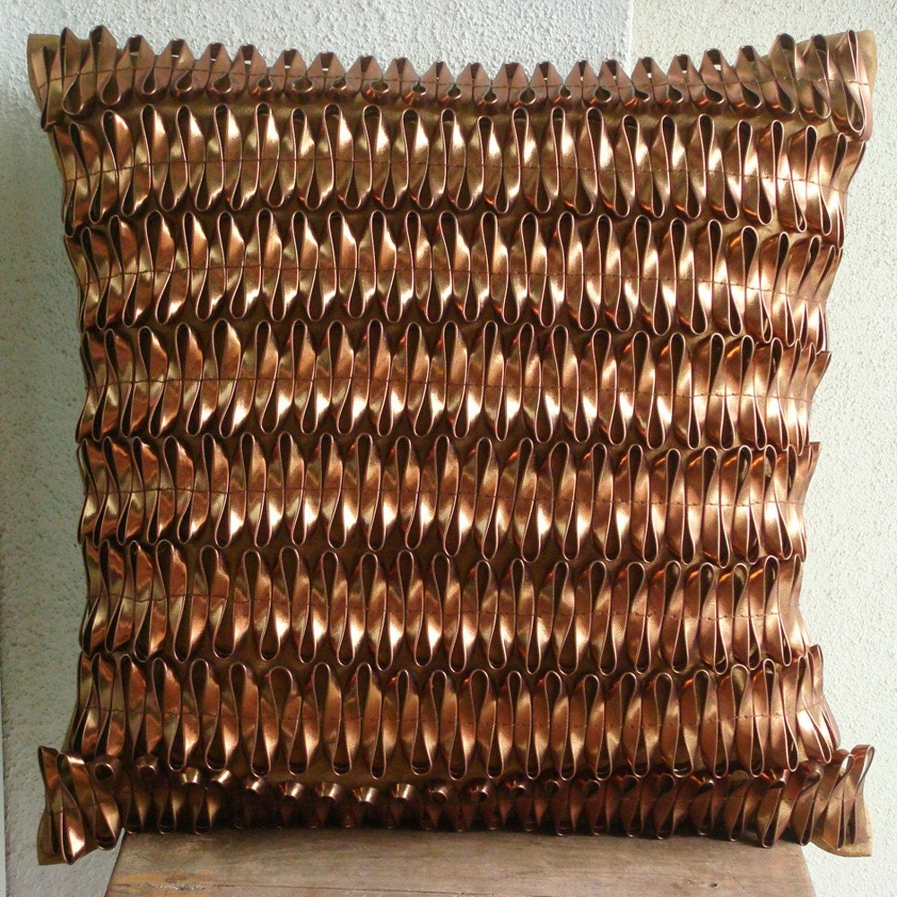 3D-Metallic-Rust-Cushion-Cover-Faux-Leather-30x30-cm-Cushion-Case-Rustic-Rust