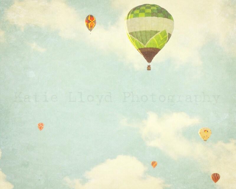 Hot Air Balloons in Flight - 16x20 Fine Art Photography Print