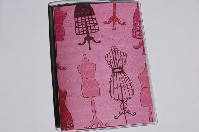 PASSPORT COVER - VINTAGE PINK DRESS FORMS