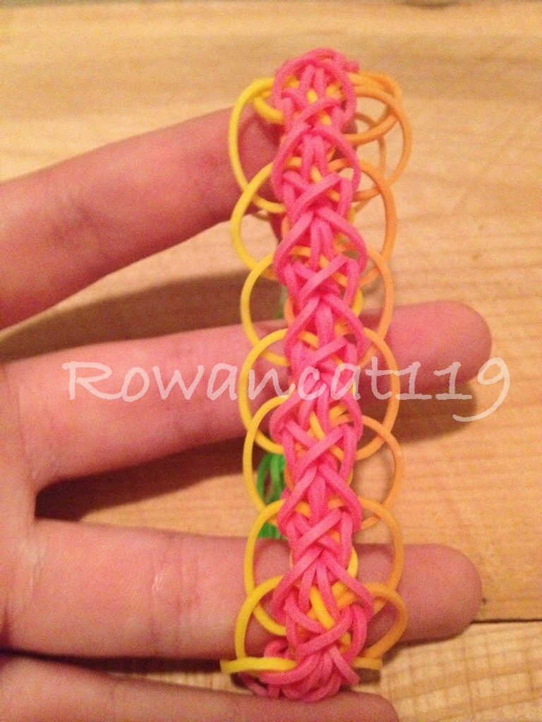 Rainbow Loom Patterns Diamond Items similar to This ...