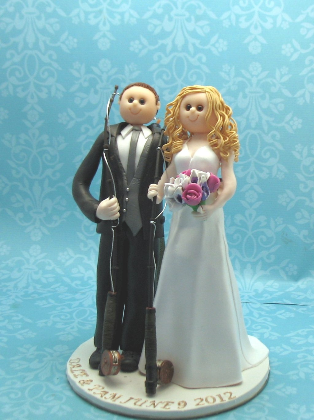 Items Similar To Wedding Cake Topper Fishing Theme On Etsy