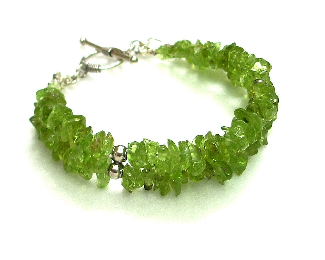 Peridot and Sterling Silver Bracelet