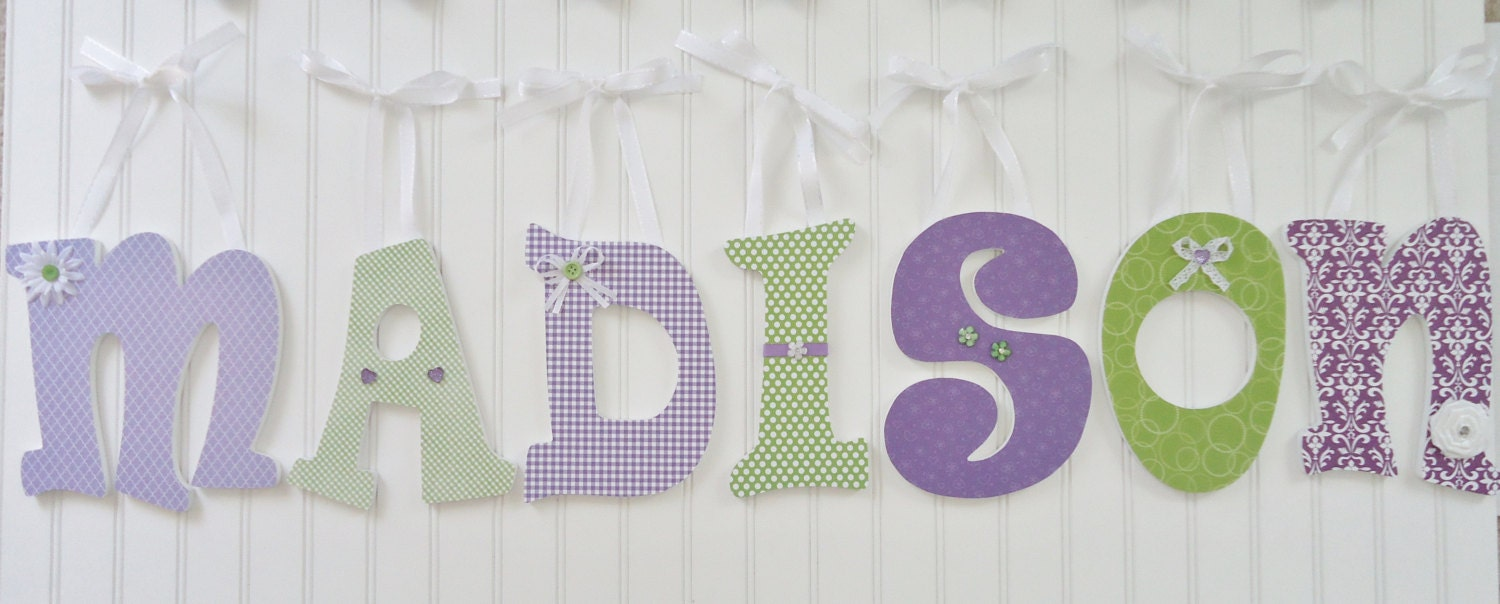 Items Similar To Wall Letters Nursery Wall Decor Wooden Letters Custom Nam