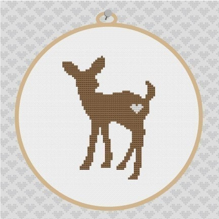 Deer in woods cross stitch kit or pattern | Yiotas XStitch