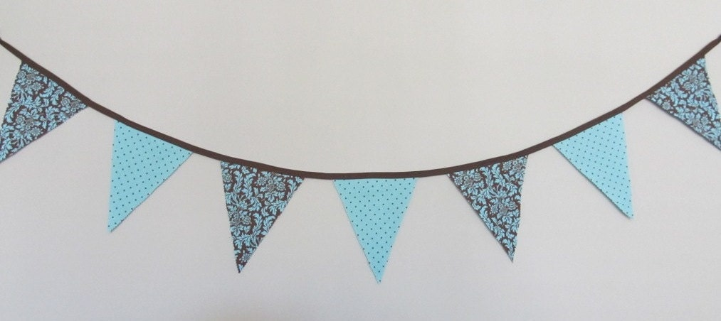 Personalized Banners for Weddings, Baby, Parties & More- Brown and Teal