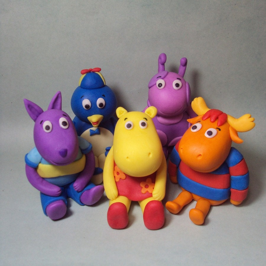 Backyardigans Cake Toppers Set Of 5 By Sweettouchdecor On Etsy