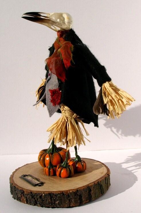 Mr Belasko  The Gentleman Scarecrow  OOAK Horror art doll