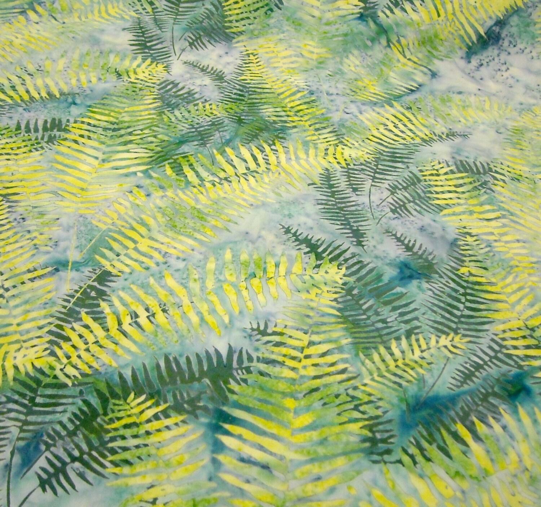 Batik Fabric: Montego Fern Bali Batik from Hoffman - 1 YD - FabricFascination