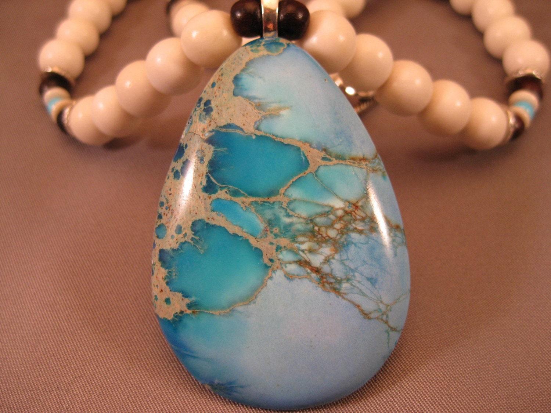 Aqua Terra Pendant Summer Necklace