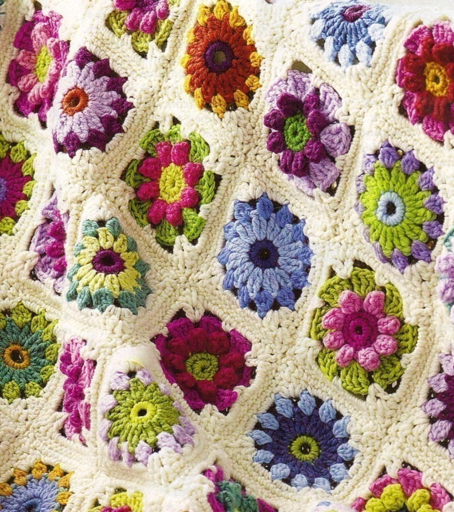 Afghan Patterns Crochet : FREE CROCHET ROSE AFGHAN PATTERN - Crochet - Learn How to Crochet